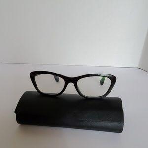 PRADA VPR 30Q Black frame w/ reading lenses